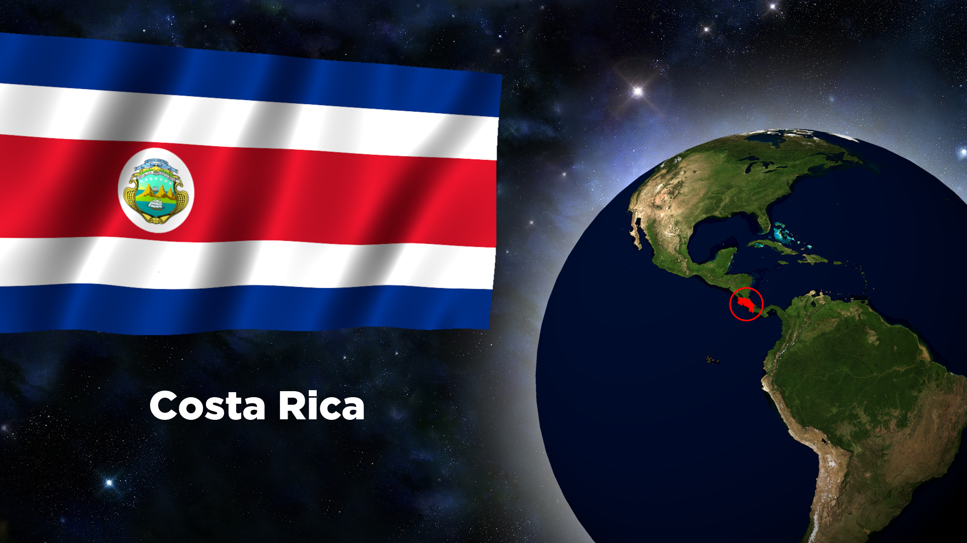 Costa Rica Flag Wallpapers
